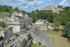 Mayan archeological site of Ek Balam (black jaguar) surrounded b Royalty Free Stock Photo