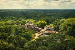 Mayan Archeologische Plaats van Ekbalam Maya Ruins, het Schiereiland van Yucatan Stock Foto