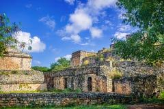 Mayan Archeologische Plaats van Ekbalam Maya Ruins, het Schiereiland van Yucatan Stock Foto's