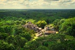 Mayan Archeologische Plaats van Ekbalam Maya Ruins, het Schiereiland van Yucatan Stock Fotografie
