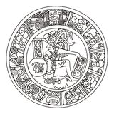 Mayan artwork. An illustrated piece of Mayan artwork Stock Photos