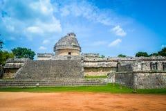 Mayan astronomisk observatorium Arkivbilder