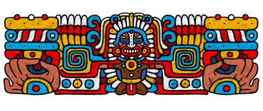 Mayan AtrWork. Forward on searches of an ancient civilization Maya Royalty Free Stock Photography