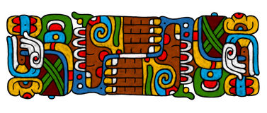 Mayan AtrWork Royalty Free Stock Photo