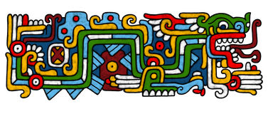 Mayan AtrWork. Forward on searches of an ancient civilization Maya Stock Images