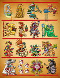Mayan - Aztec codex illustration Stock Photography