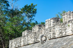 Mayan Ball Court in Coba, Mexico Stock Photography