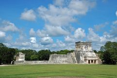 Mayan Ball Court from Distance royalty free stock photo
