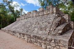 A Mayan Ball field, Yucatan,Landscape in a sunny day Stock Photo