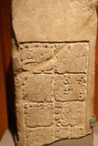 Mayan bas-relief stele Stock Image
