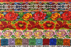 Mayan bead pattern. Colourful mayan bead pattern in Guatemala royalty free stock images