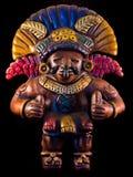 Mayan beeldhouwwerk Stock Foto's
