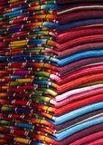 Mayan Blankets 10. Mayan Blankets for sale at an Outdoor Market in Chiapas, Mexico stock images