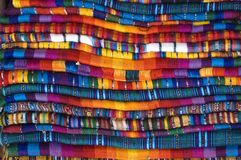 Mexican Blankets. For sale stacked royalty free stock photography