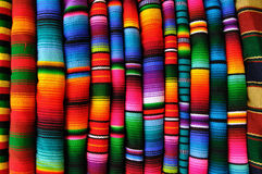 Mayan blankets from Guatemala Royalty Free Stock Photography