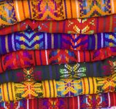 Mexican Blankets Square. Colorful Native American Mexcian Blankets showing patterns and bright colors Royalty Free Stock Photos