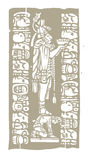 Mayan Bowl Woodblock A Stock Photography