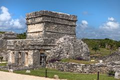 Mayan buildings in Tulum, Mexico. royalty free stock photos
