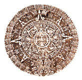 Mayan calendar. Isolated on the white background royalty free stock images