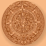 Mayan calendar. The ancient Mayan calendar predicts the end of the world vector illustration
