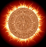 Mayan calendar. 2012. Apocalypse on the calendar of the ancient Maya stock illustration