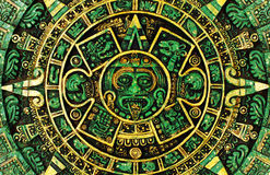 Mayan calendar. Does Mayan calendar predict 2012 apocalypse royalty free illustration