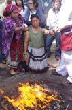 Mayan Calendar Celebrations. By Indigenous people royalty free stock photo