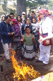 Mayan Calendar Celebrations. By Indigenous people Stock Photo