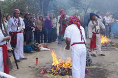 Mayan Calendar Celebrations. By Indigenous people Stock Image
