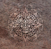 Mayan calendar on old stone Stock Photos
