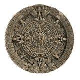The Mayan calendar. Old stone medal to the Mayan Calendar Stock Photo