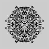 Mayan Calendar Vector. Vector of mayan calendar in grey background Stock Images