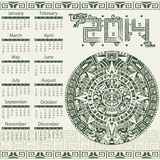 Mayan calendar 2014 Stock Photos