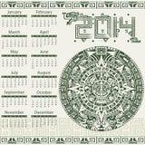 Mayan calendar 2014 Stock Photos