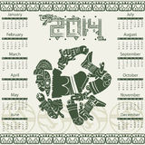 Mayan calendar 2014 Royalty Free Stock Photos