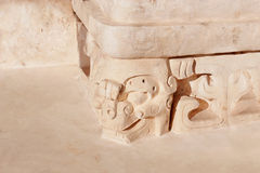 Mayan carving detail Royalty Free Stock Photography