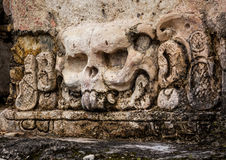 Mayan carvings skull Royalty Free Stock Images