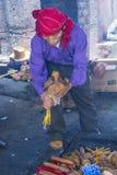 Mayan Ceremony. CHICHICASTENANGO , GUATEMALA - JULY 26 : Guatemalan man take part in a traditional Mayan ceremony in Chichicastenango , Guatemala on July 26 2015 Stock Image