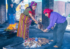 Mayan Ceremony. CHICHICASTENANGO , GUATEMALA - JULY 26 : Guatemalan people take part in a traditional Mayan ceremony in Chichicastenango , Guatemala on July 26 Royalty Free Stock Image
