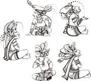 Mayan characters Royalty Free Stock Image