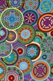 Mayan Circle Pattern Background. Mayan Circle Pattern Colorful Background stock photography