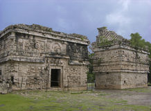 Mayan City. Rainy day in Mayan ancient city Chichen Itza, Mexico royalty free stock photos
