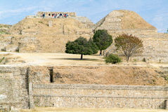 Mayan city ruins in Monte Alban near Oaxaca city Stock Image