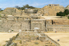 Mayan city ruins in Monte Alban near Oaxaca city Stock Photography
