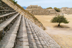 Mayan city ruins in Monte Alban near Oaxaca city Stock Photos