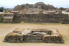 Mayan city ruins in Monte Alban near Oaxaca city Royalty Free Stock Image