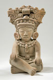 Mayan Clay Sculpture. Isolated Ancient Mayan Idol Representation Stock Image