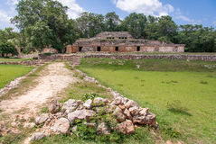 Mayan Complex in Labna Yucatan Mexico Stock Photo