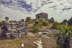 Mayan complex van Tulum royalty-vrije stock fotografie