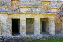 Mayan construction in Tulum Mexico Royalty Free Stock Photos
